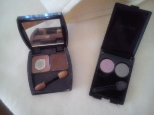 Oriflame Perfect match eyeshadow duo, Lancome color focus duo 302 round midnight.
